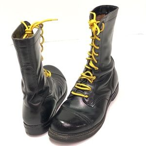 Vintage WW2 Paratrooper Military Boots Size 10 Men